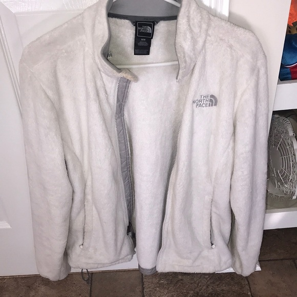 13538ade0 White fluffy North Face jacket